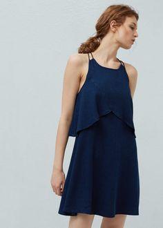 Soft denim dress - Dresses for Woman | MANGO Slovenia