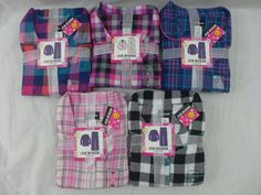 Womens Joe Boxer Pajamas Flannel 2 Pc Plaids Pinks Teal Black White XS To 4X New #JoeBoxer #PajamaSets