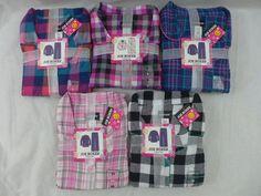 Womens Joe Boxer Pajamas Flannel 2 Pc Plaids Pinks Teal Black White XS To 4X New #JoeBoxer #PajamaSets