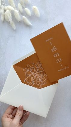 Modern Wedding Stationery, Wedding Invitation Card Design, Wedding Invitation Envelopes, Flower Invitation, Diy Wedding Envelopes, Diy Wedding Cards, Diy Wedding Video, Wedding Playlist, Wedding Card Design