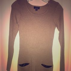 ALYX Sweater Size Small Core sweater, color is Heather Taupe, can be worn as a sweater or sweater dress mini. ALYX Sweaters Cardigans