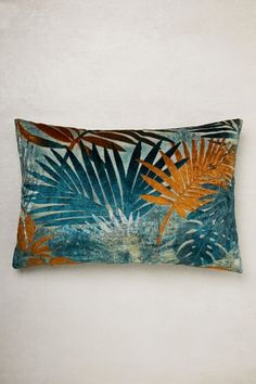 Buy Tropical Palm Leaf Cut Velvet Cushion from the Next UK online shop Teal Cushions, Teal Sofa, Large Cushions, Velvet Cushions, Decorative Cushions, Scatter Cushions, Cushions On Sofa, Pillows, Teal And Copper Bedroom