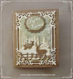 Elly's Card- Corner: Regal frame winter scene.