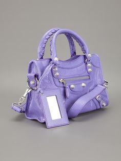 BALENCIAGA - pastel purple lilac cute mauve mini City Arena tote 3 $1132.52