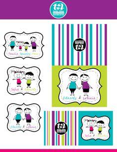 Stickers y tarjetas personalizadas para regalos
