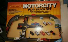 MATCHBOX MOTORCITY Play Track Set Vintage 1987 with box and diagram 1402