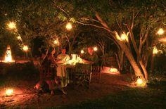Lantern lit Dinner in the Boma.