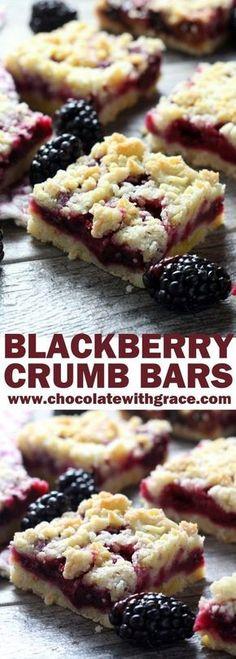 Blackberry Crumb Bars