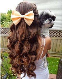 braids, curls, bows Hair