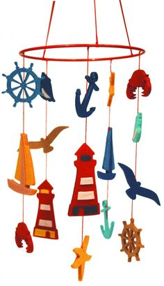 Felt mobile nautical