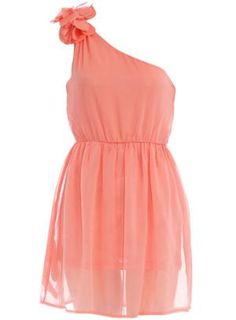 Orange petal shoulder dress - Dresses Sale - Dresses - Dorothy Perkins