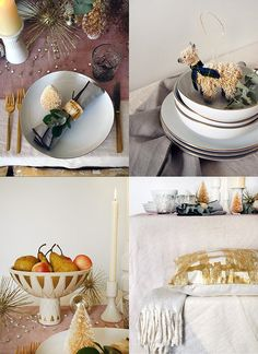 beautiful Christmas table setting details