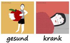 gesund_krank_Adjektive_Deutsch_deutschlernerblog