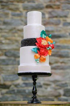 lovely modern wedding cake