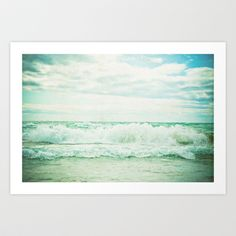 Crash Art Print by Olivia Joy StClaire. This looks like a perfect day.