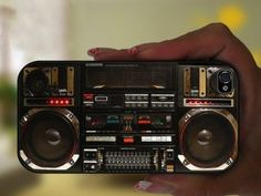 Boombox Ghetto Blaster Iphone 5 Case    Look at the details!