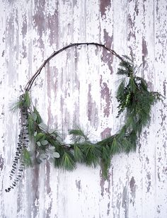 Simple Wreaths @themerrythought - multiple circles of the grapevine...gives the rustic look.