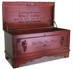 "Hand carved ""hope chest"" - have ALWAYS wanted one!"