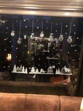 fb77792dcbf1 Vente chaude Cabine Flocon De Neige Stickers Muraux Joyeux Noël Décoration  Autocollant Fenêtre Autocollant Décor À
