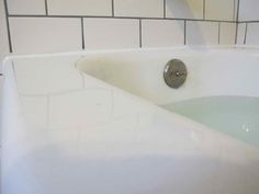 Awesome Bathroom Caulk ~ http://lanewstalk.com/simpler-bathroom-caulk-technique/