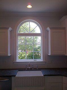 Kitchen Window White Cabinets Farmhouse Sink