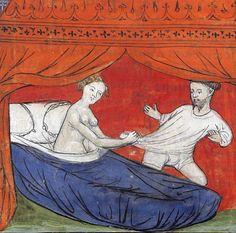 seduction of Lancelot 'Le livre de Lancelot du Lac', France ca. 1401-1425Paris, Bibliothèque de l'Arsenal 3480, p. 33