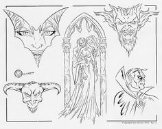 devil_face_vampire_bride_demon_color_dark_art_BULL_outline_19_Tattoo ... Vampire Bride, Demon Tattoo, Tattoo Outline, Flash Art, Dark Art, Devil, Outlines, Tattoos, Face