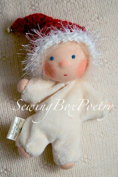 Waldorf doll Christmas Elf Waldorf inspired by SewingBoxPoetry