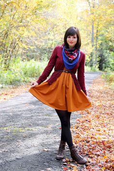 Super autumn outfit! I wanted to match the leaves. :)  #autumn #fallfashion