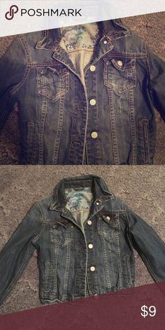 Denim jacket 🎀Dark wash Aeropostale denim jacket!🎀 Aeropostale Jackets & Coats Jean Jackets