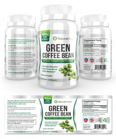 Green Coffee Bean Extract Supplement Label Template http://www.dlayouts.com/template/856/green-coffee-bean-extract-supplement-label-template