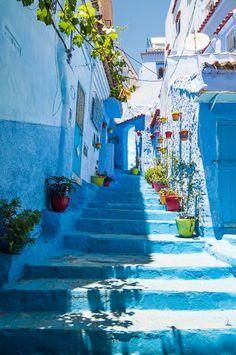 Blue village in #Morocco