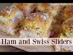 Ham and Swiss Sliders - Graceful Little Honey Bee