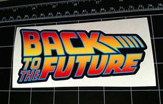 Back to The Future Movie Logo Style Decal Sticker BTTF Marty McFly DeLorean | eBay