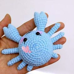 Mesmerizing Crochet an Amigurumi Rabbit Ideas. Lovely Crochet an Amigurumi Rabbit Ideas. Crochet Amigurumi Free Patterns, Crochet Animal Patterns, Stuffed Animal Patterns, Crochet Animals, Crochet Dolls, Knitting Patterns, Crochet Fish, Cute Crochet, Crochet Crafts