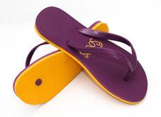 yellow flip flops Yellow Flip Flops, Custom Flip Flops, Thing 1, Design Your Own, Flipping, Sandals, Shoes, Women, Slide Sandals