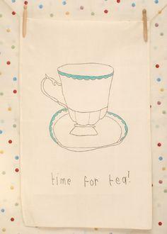 'Time for Tea' Tea Towel £10.00