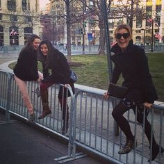 Me and some gals jumping a barricade in D.C...