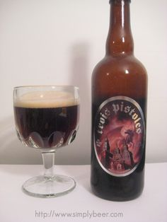 Unibroue's Trios Pistoles - Dark ale, extremely smooth from beginning to finish, slightly sweet, subtle cherry notes, 9% ABV. My rating - 8.8