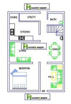 Today we are showcasing a 840 sq ft single floor single bedroom 1BHK Free house plan  from Hom...