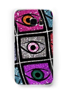 Eyes, digital pattern abstract wave  von RosiLorz