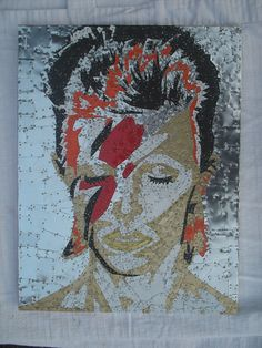 David Bowie Recycled Tin Art