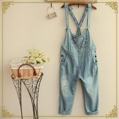 Fairyland - Floral Washed Dungaree