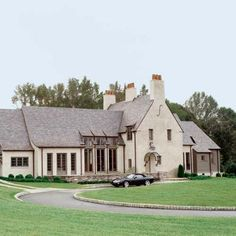 beautiful home . . . love the chimney pots ... maybe I DO want to build a new house!