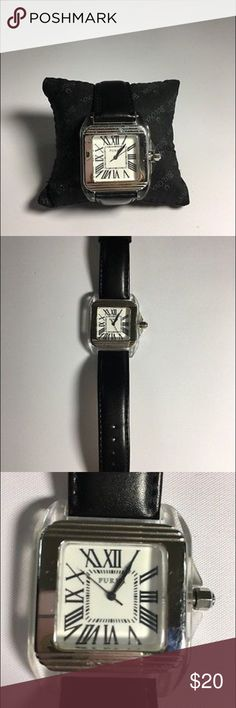 Furla Steel Collection Fashion Watch Furla steel collection women's watch black leather original band in good condition the watch has a new battery and works well glasses in great shape the metal around the face has some light scuffing and scratches but nothing too obvious. Furla Accessories Watches