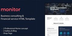 Download Monitor - Business Consulting and Financial Services HTML Template (Business) Nulled