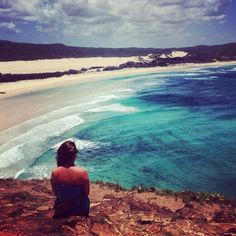 The UK's Lizzy Farwell takes a few moments to relax and take in that awesome view atop Indian Head on one of our tours.  Cool Dingo guided 2 and 3-day tours of Fraser Island #cooldingo #fraserisland #queensland #australia