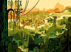 fosters home for imaginary friends concept art - Google Search