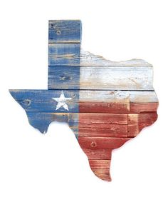 Another great find on #zulily! Texas Flag Reclaimed Wood Wall Art by Wayne Works #zulilyfinds