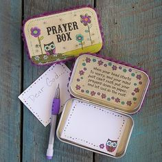 Prayer Box-- I really like this idea. Emma might find one in her Easter basket.